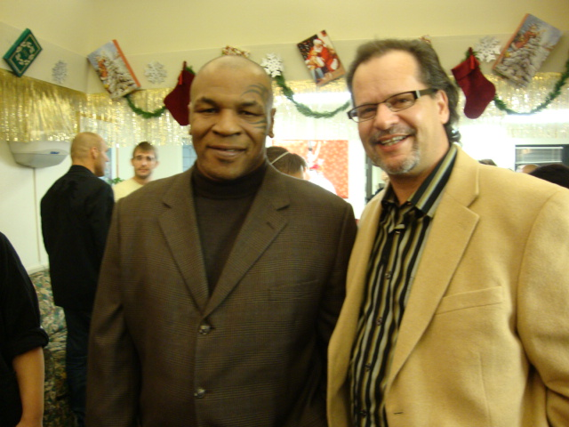 aoj enjoying the holiday season with heavyweight champ mike tyson