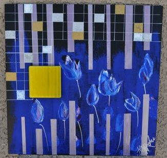 study of blue tulips 1